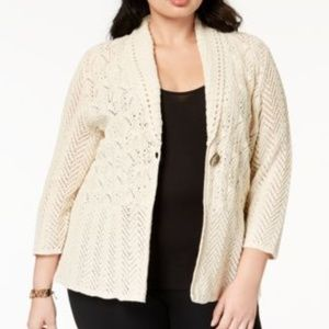 JM Collections Plus Size Sweater Cardigan